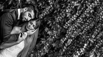 Foto sposi stampata in bianco e nero
